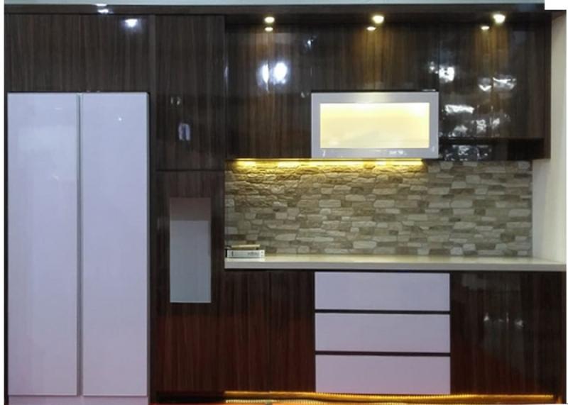 Kitchen Set Motif Serat Kayu