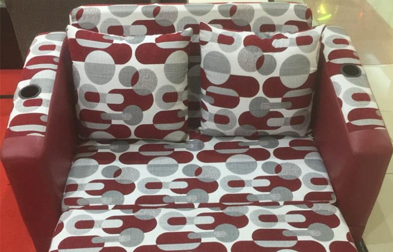 Sofa Bed Red Polkadot